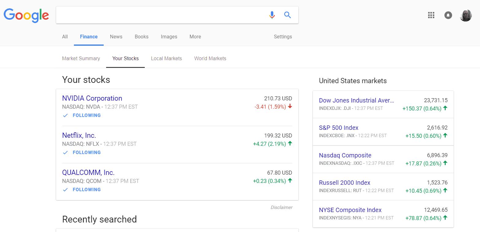 CNBC Tech: Google Finance 2