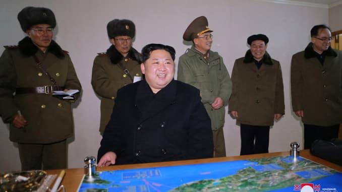 RT: Kim Jong Un North Korea missile launch 171129-004