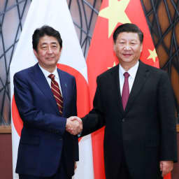 Japan and China look to strengthen ties at G-20 summit, even as Trump looms large