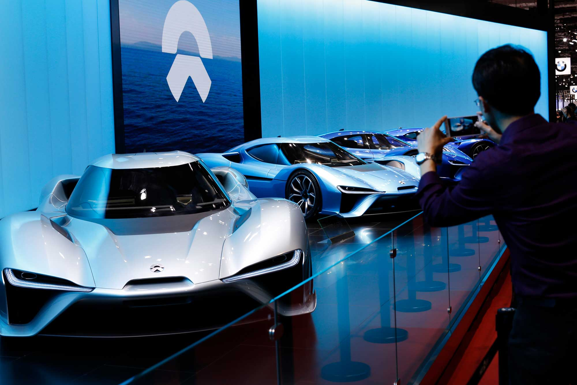 The Nio EP9 self-driving concept electric vehicle (EV) is displayed during the media day of 17th Shanghai International Automobile Industry Exhibition on April 19, 2017 in Shanghai, China.