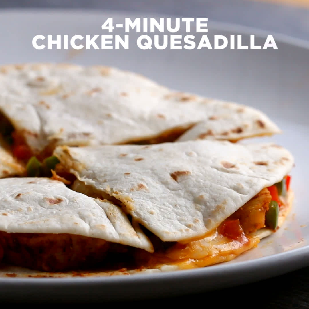 One time use: tasty quesadilla