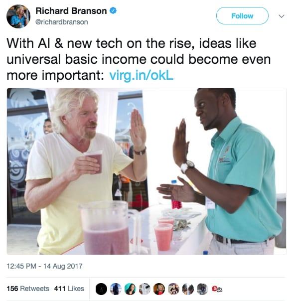 Richard Branson AI basic income 171227