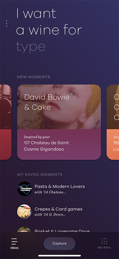 Coravin Moments App