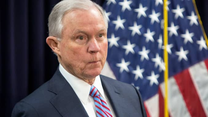 US Attorney General Sessions says Mueller probe has taken on