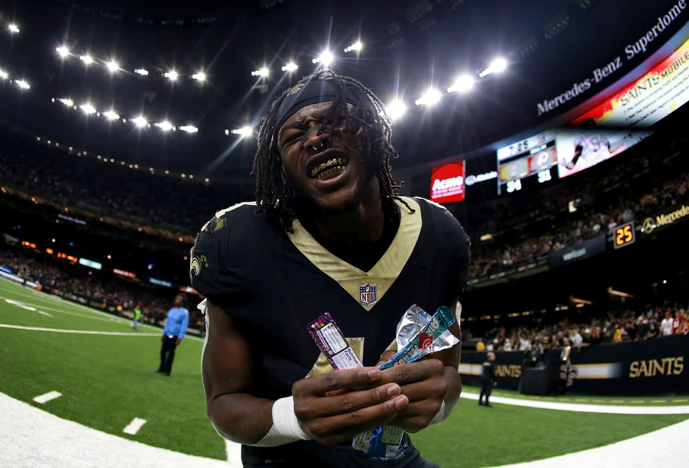 check out 9f46b a7795 Saints running back Alvin Kamara used his signing bonus to ...