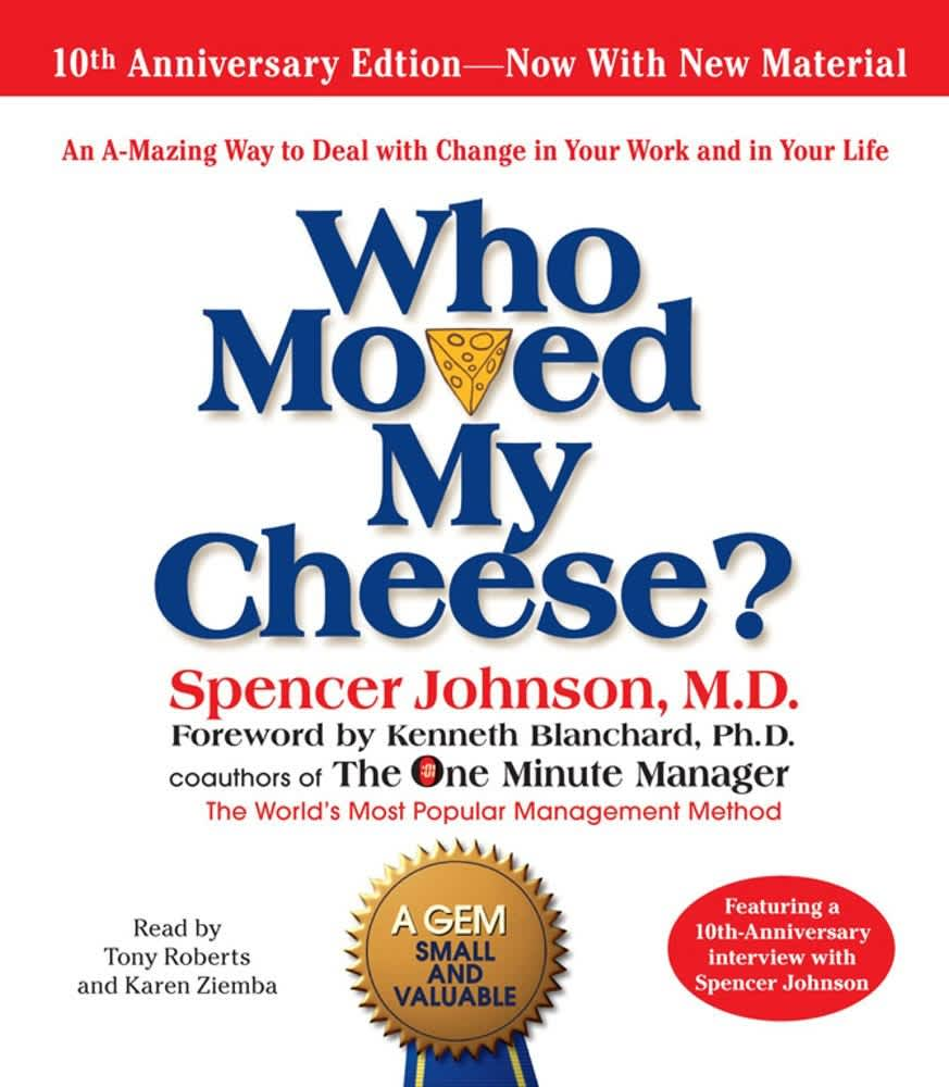 Who Moved My Cheese book cover 180117 nyc