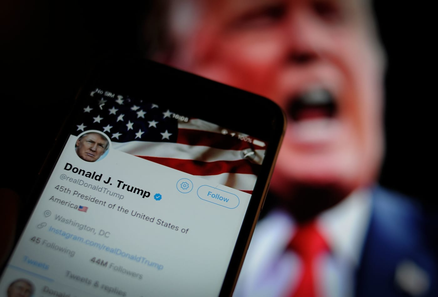 Twitter removes an image tweeted by Trump for violating its copyright policy