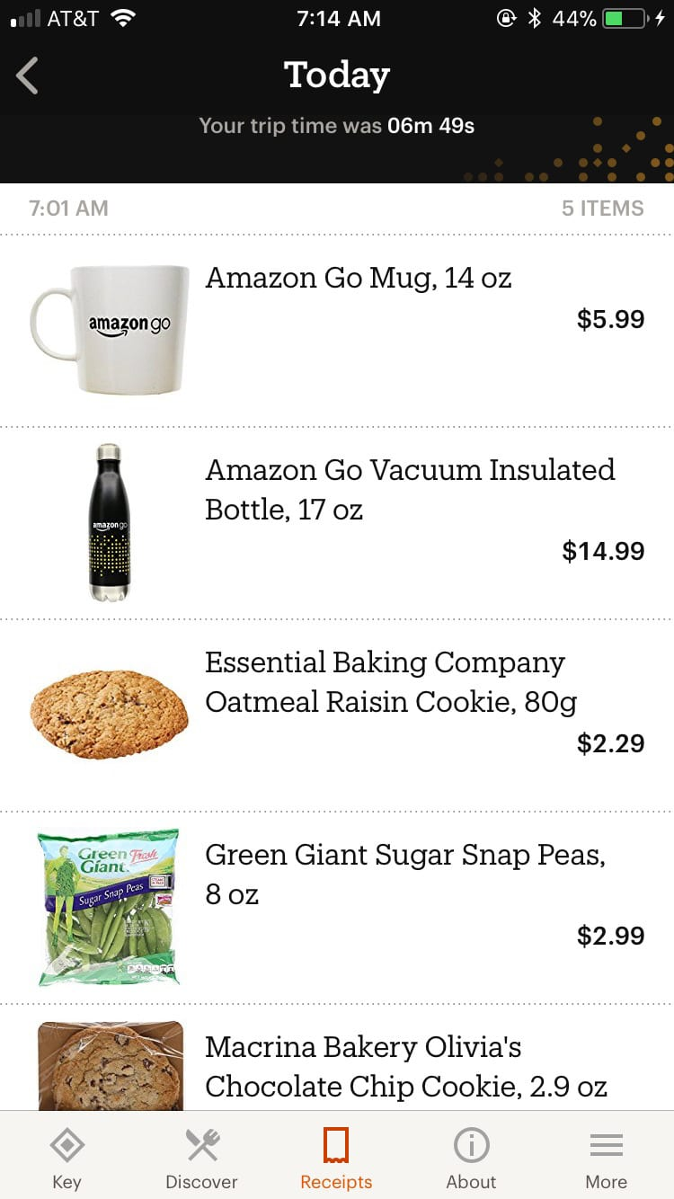 ONE TIME USE: Amazon Go screen