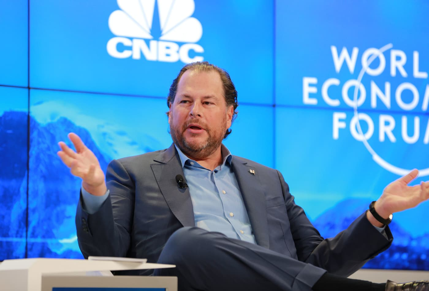 Salesforce's deal with AT&T is one of the 'largest transactions we've ever done,' Marc Benioff says