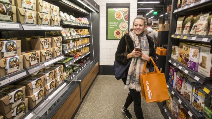 Forget the pretzels and soda, shoppers are scooping up flowers and salads at convenience stores