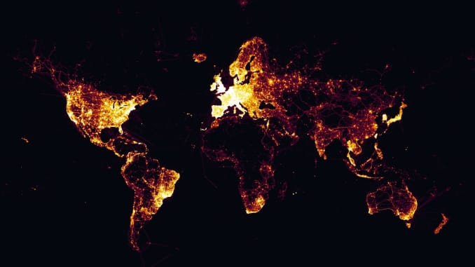 Global heat map for joggers exposing sensitive US military ...