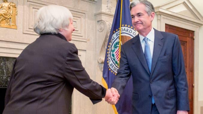 Jerome Powell sucedió a Janet Yellen en la presidencia de la Fed en 2018