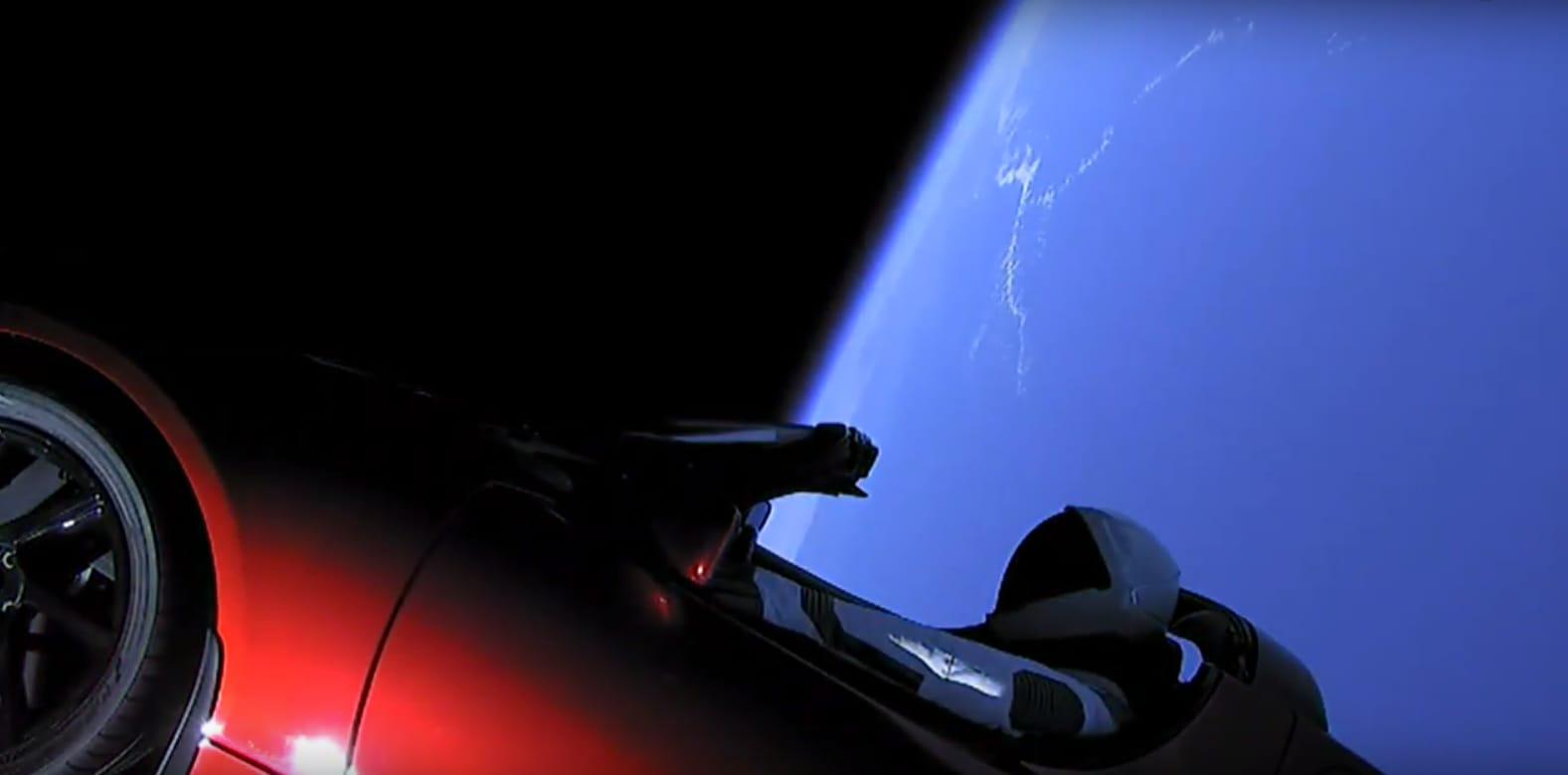 Tesla Roadster in space - FERRIS