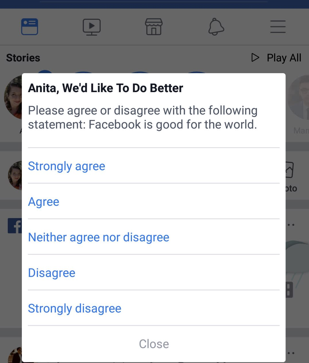 Reusable CNBC Facebook poll Is Facebook good for the world