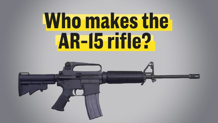 Who makes the AR-15 rifle?
