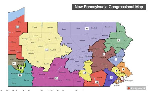 New Pennsylvania Congressional Map 180220