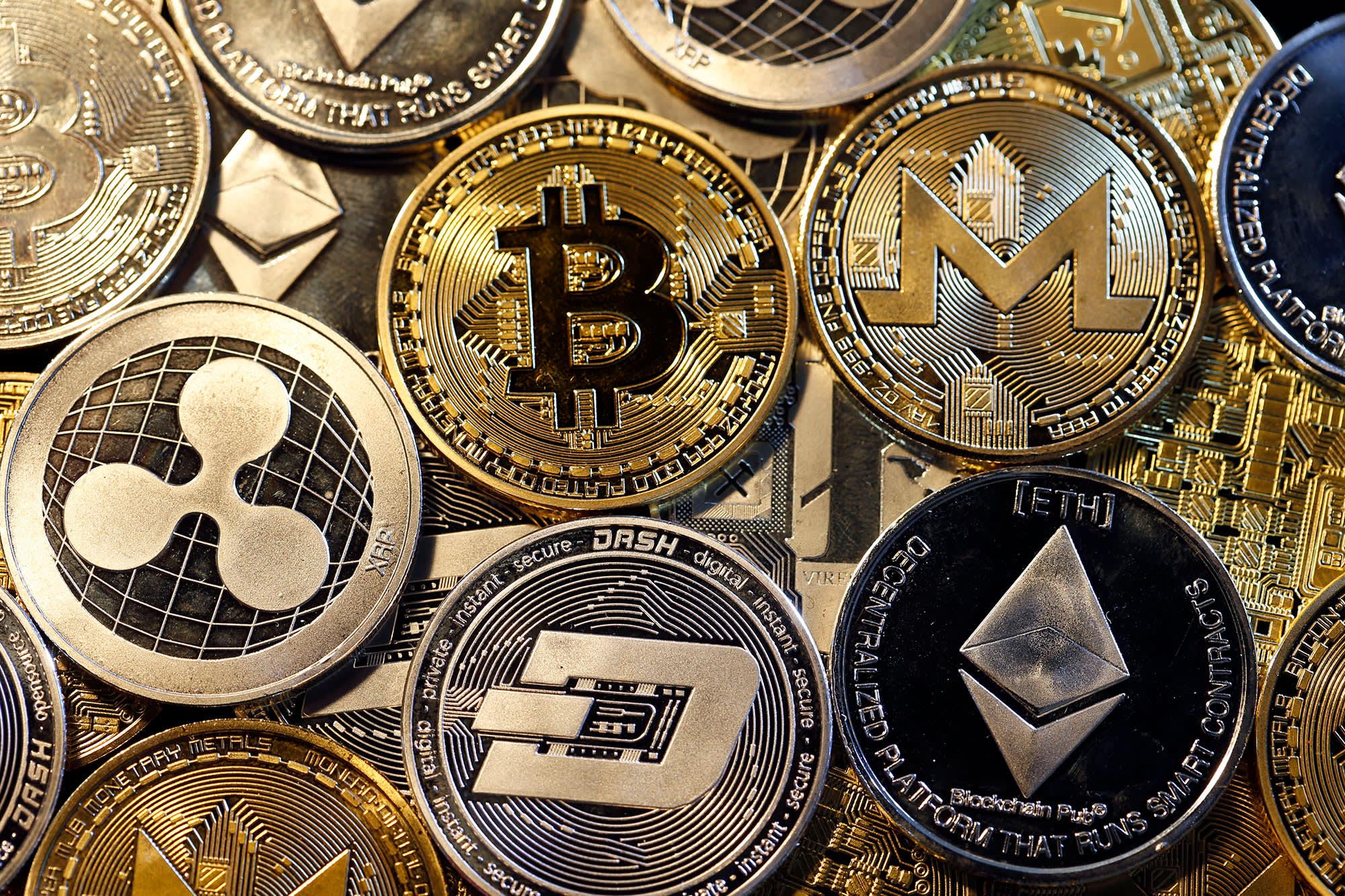 Digital cryptocurrencies, Bitcoin, Ripple, Ethernum, Dash, Monero and Litecoin.