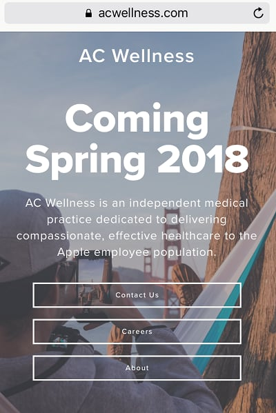 CNBC AC wellness site screenshot