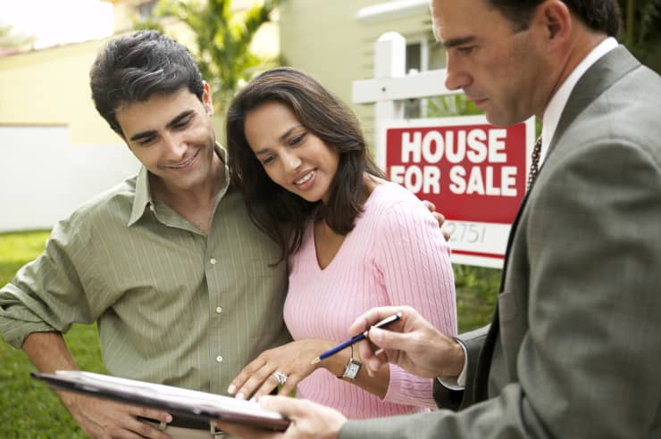home buyers and realtor