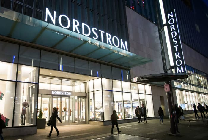 Premium: Nordstrom store exterior pedestrians