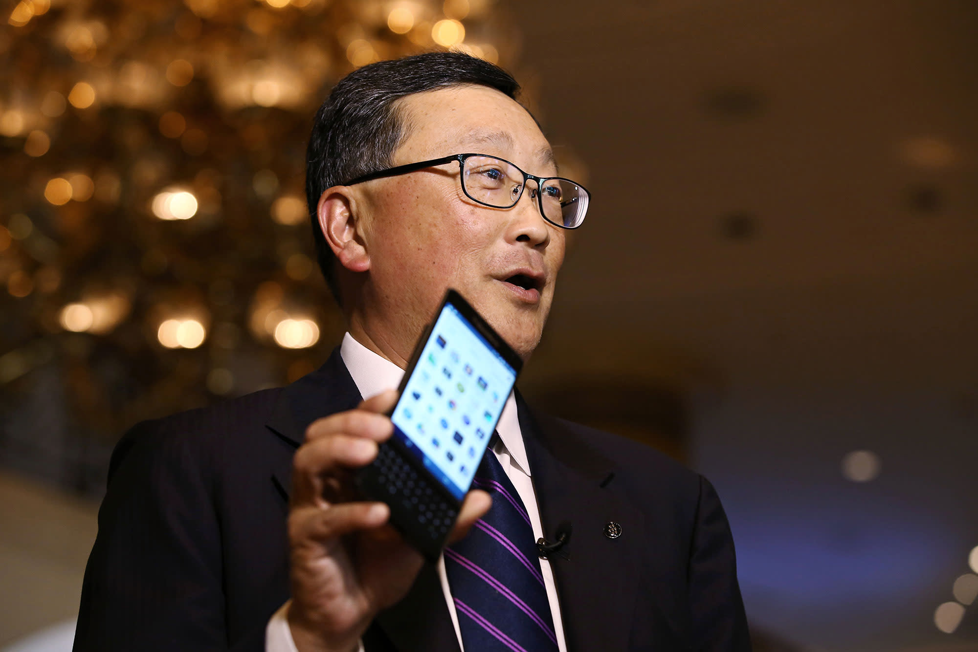 BlackBerry CEO says after near-death experience the mobile company's turnaround has hit tipping point