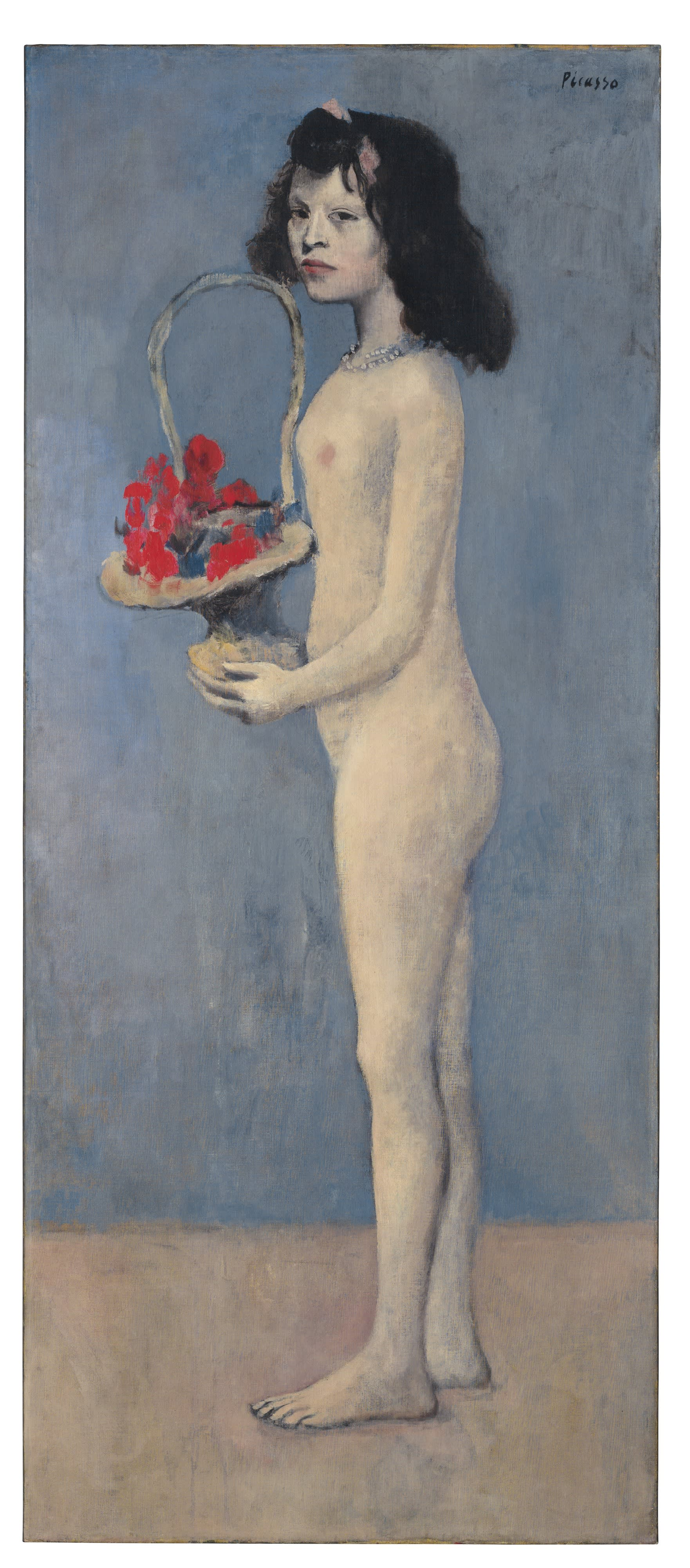 "Rockefeller Auction: ""Young Girl With a Flower Basket"" by Pablo Picasso"