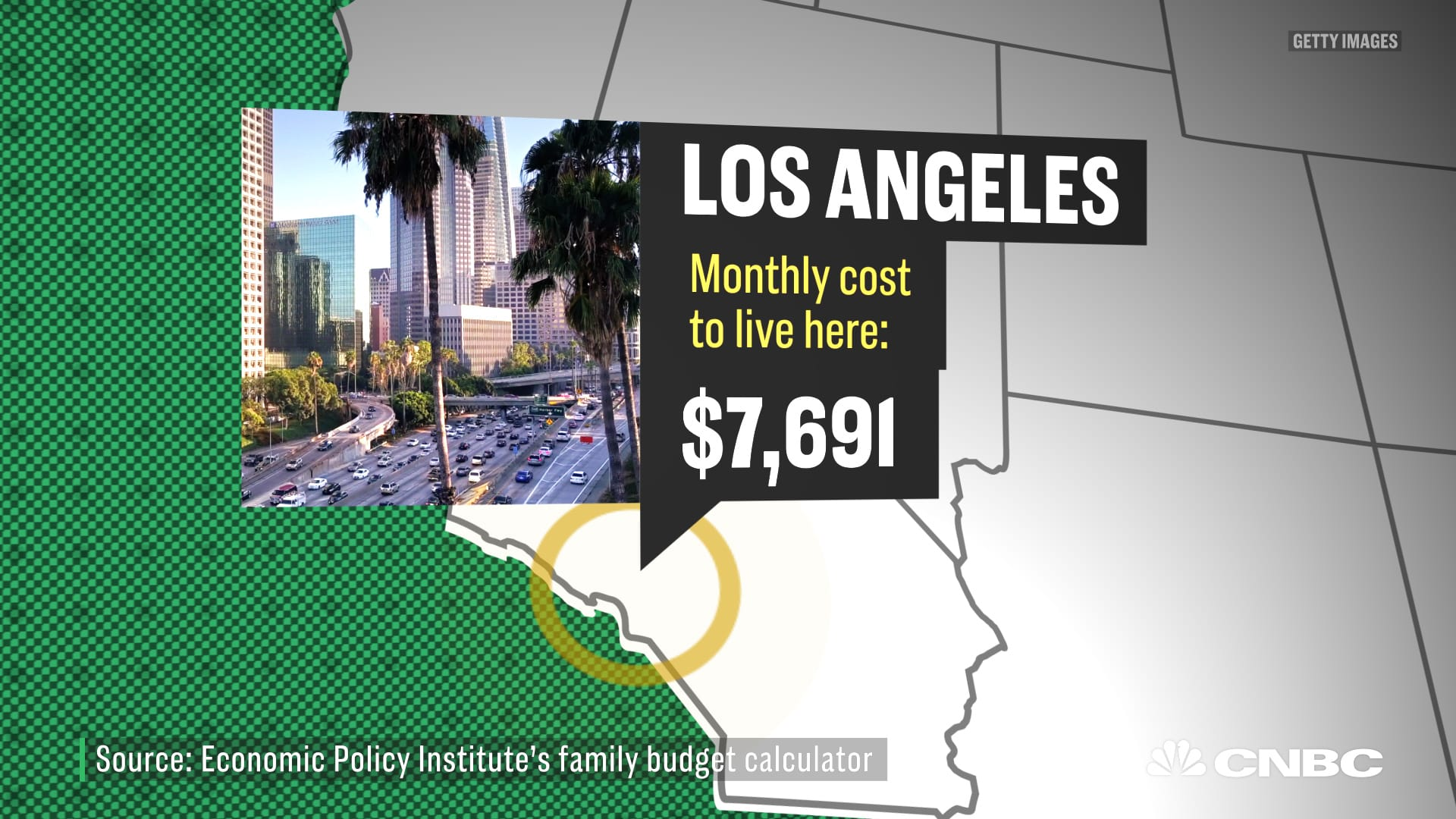 How much a 4-person family needs to live in the 15 biggest US cities