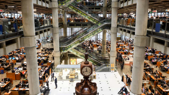 The interior of Lloyd's of London, the centuries-old insurance market, is pictured in central London on April 27, 2016.