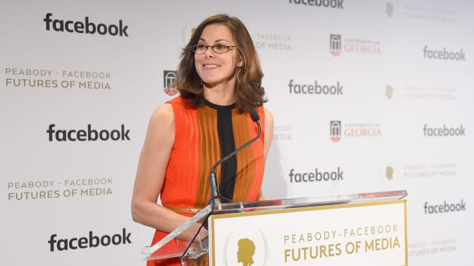 Subs: Campbell Brown speaks onstage at the Peabody-Facebook Futures Of Media Awards