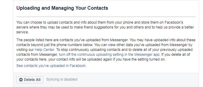 How to stop your phone from uploading your contacts to Facebook