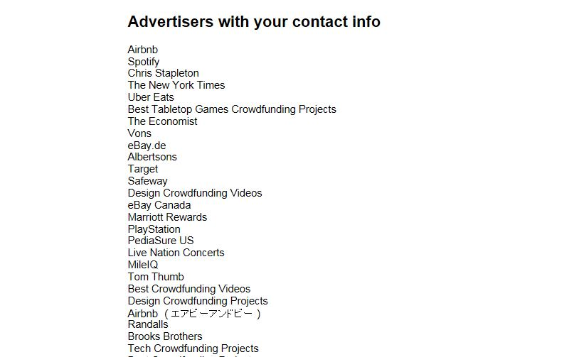 CNBC Tech: Facebook Ads with contacts