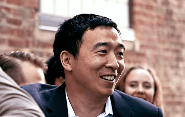 Andrew Yang on Google, Amazon helping pay for his $1,000-per-month UBI plan