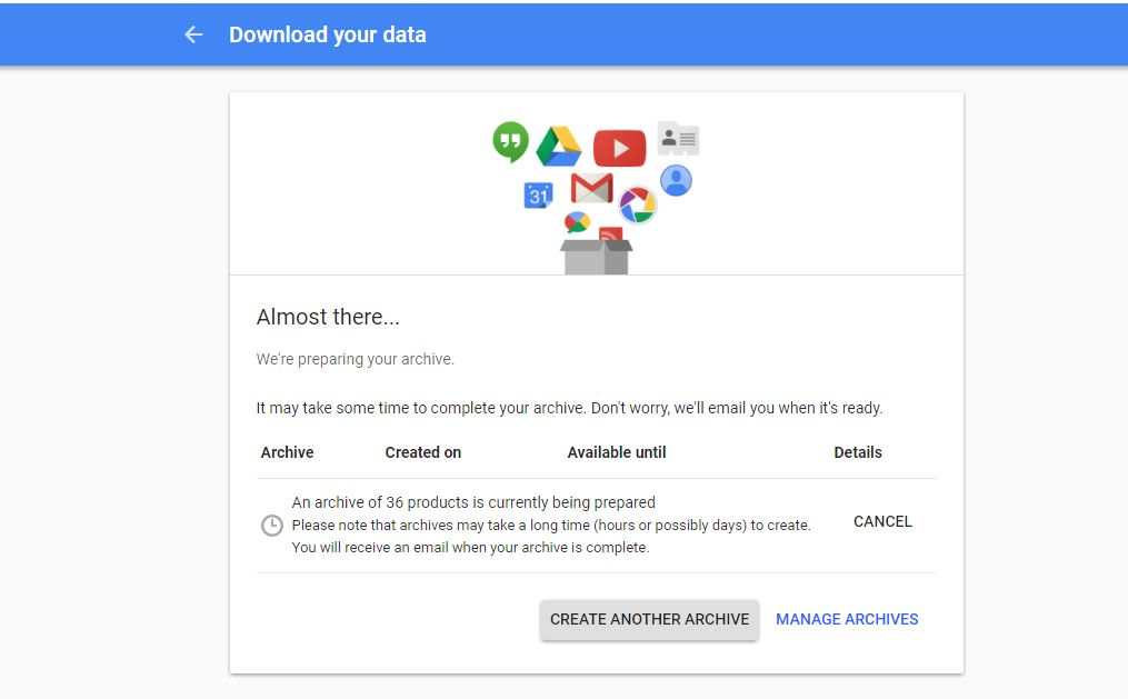 How to download a copy of everything Google knows about you