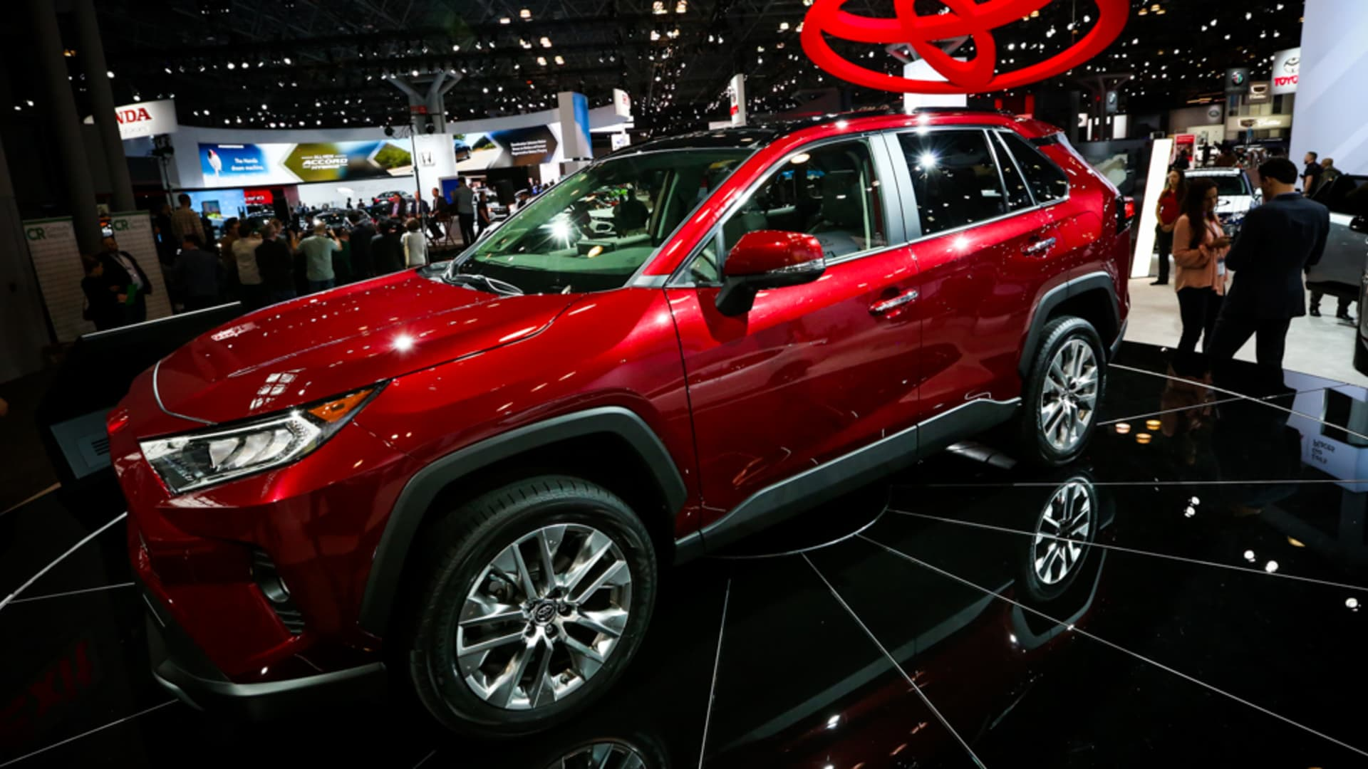 2018 Toyota Rav 4 on display at the 2018 New York International Auto Show on March 29th, 2018.