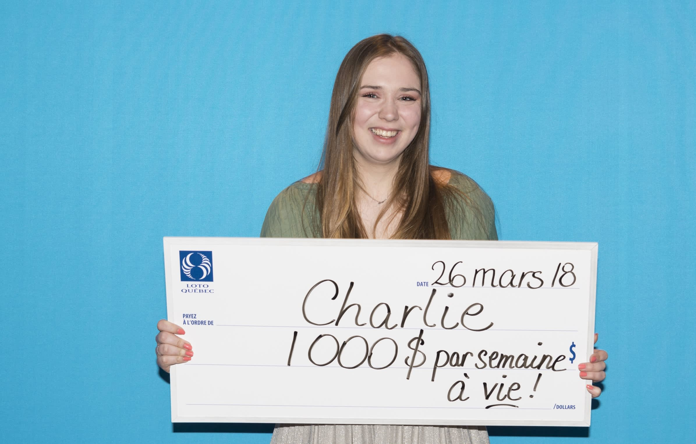 An 18-year-old won the lottery and she gets $1,000 a week