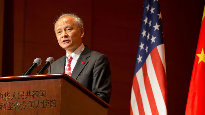 Chinese ambassador on trade talks: The US 'changes its mind so often'