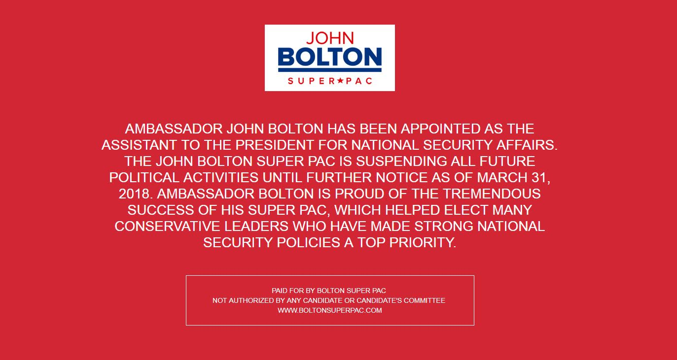 Handout: John Bolton Super Pac graphic