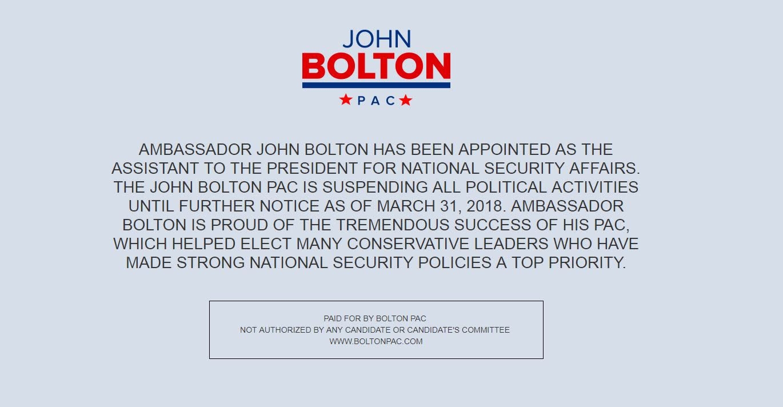 Handout: John Bolton Super Pac graphic 2