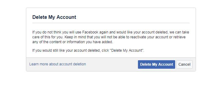 How can i delete all of my facebook photos