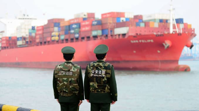 GP: China trade container ship 180308