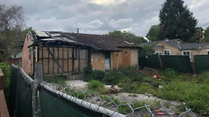 A burned-out Silicon Valley house is now on the market for