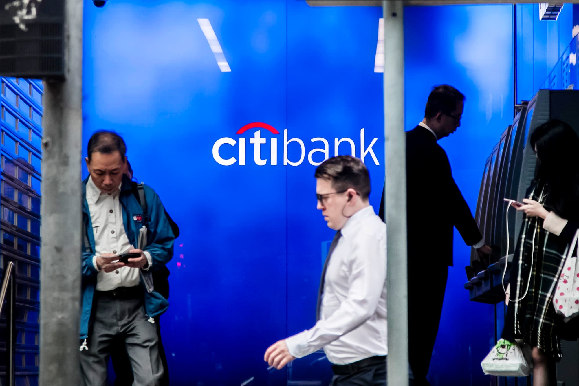 Financial stocks led by Citigroup enter correction, down 10% from highs, on yield curve concern