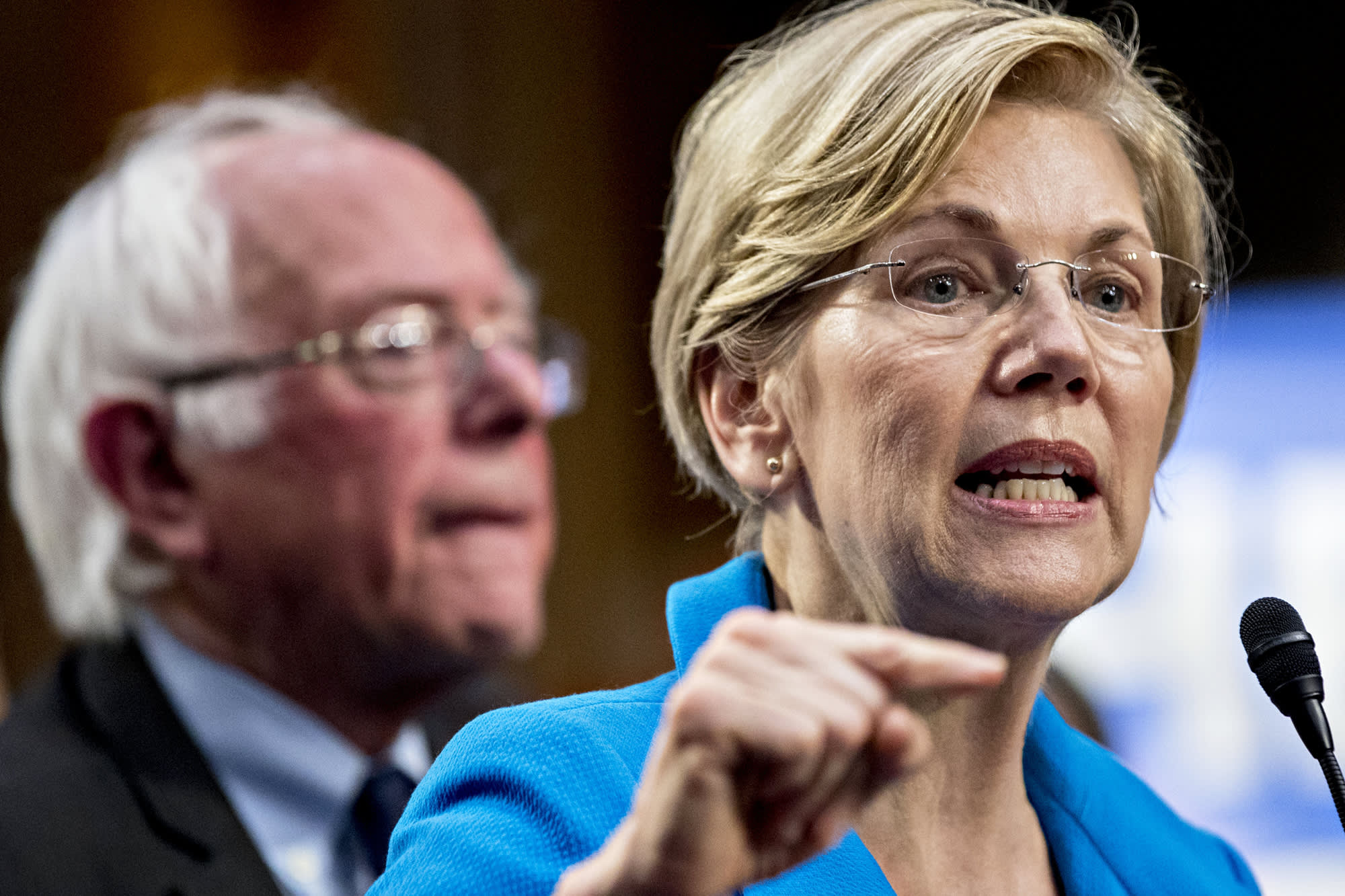 Warren, Sanders, other Democrats call for NBC sexual abuse probe ahead of presidential debate on MSNBC