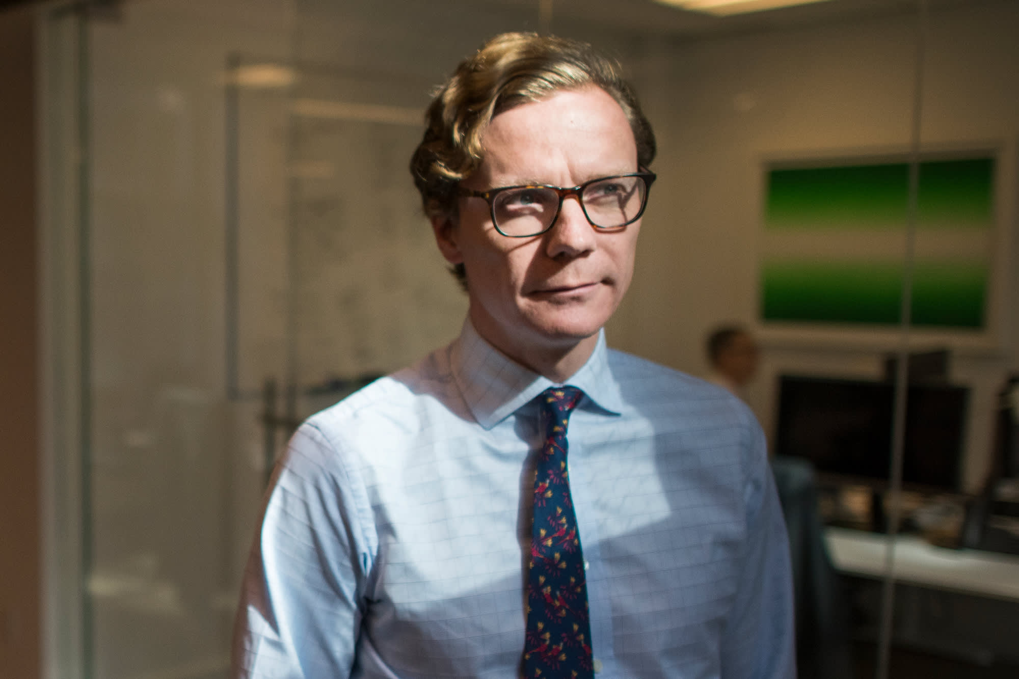 Former Cambridge Analytica CEO cancels ad conference interview after protest