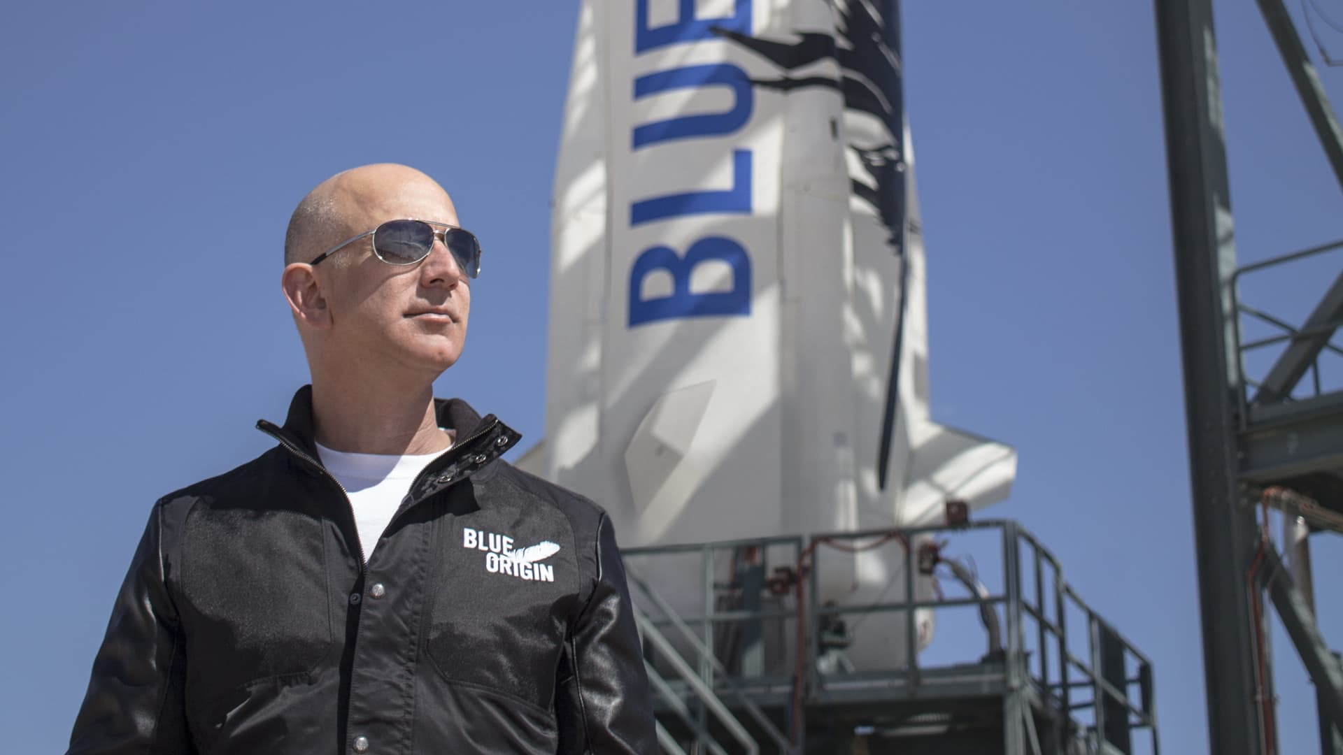 Jeff Bezos, founder of Blue Origin, is developing the New Shepard rocket for space tourism.