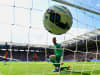 A dejected David De Gea of Manchester United looks at the ball in his net as Leonardo Ulloa of Leicester City scores his team's opening goal during the Barclays Premier League match between Leicester City and Manchester United at The King Power Stadium on September 21, 2014