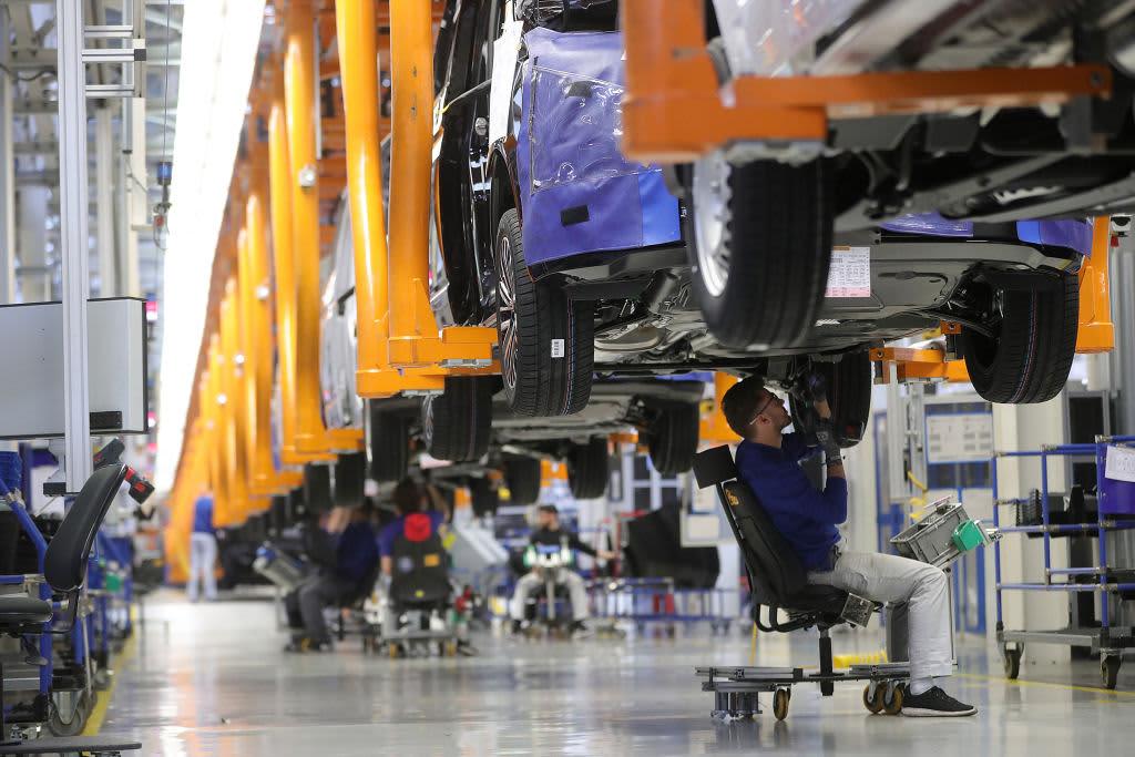 German industry slump sparks renewed growth fears