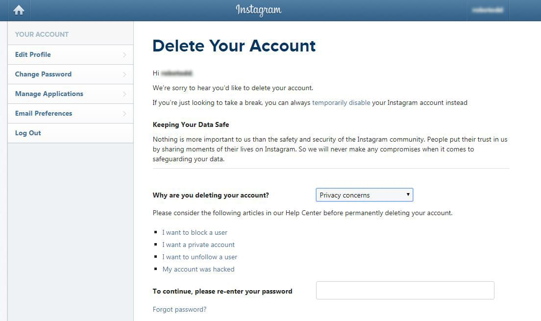 CNBC Tech: Delete Instagram account