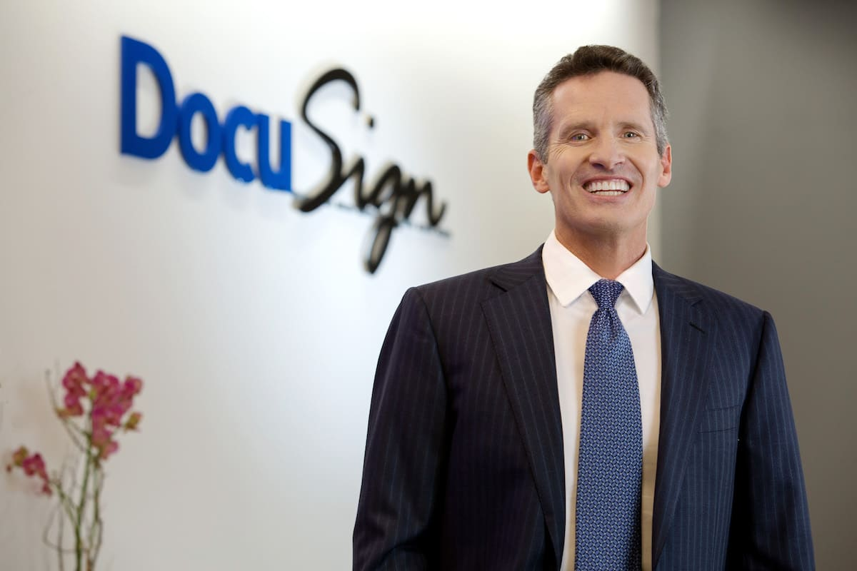 DocuSign CEO Dan Springer.