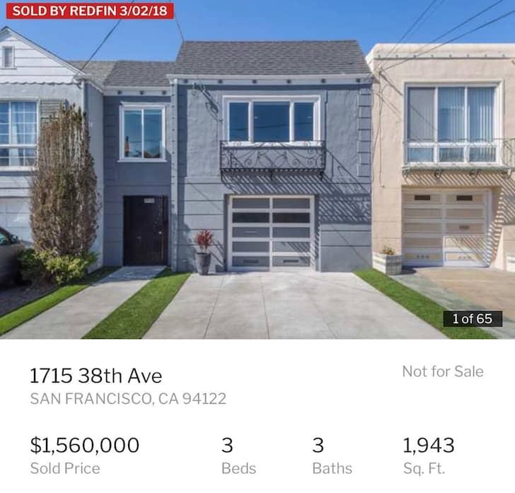 Financial Samurai: House over a million